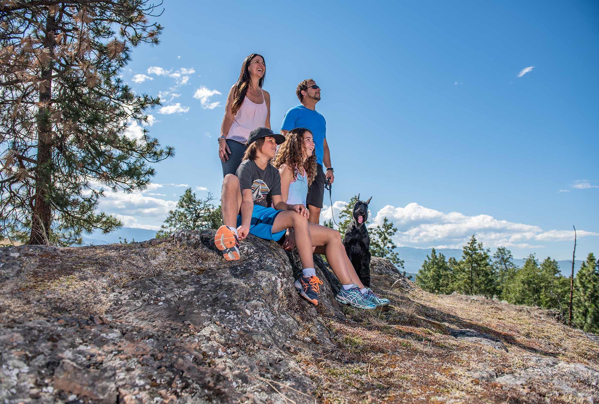 Family on hike - Kelowna BC