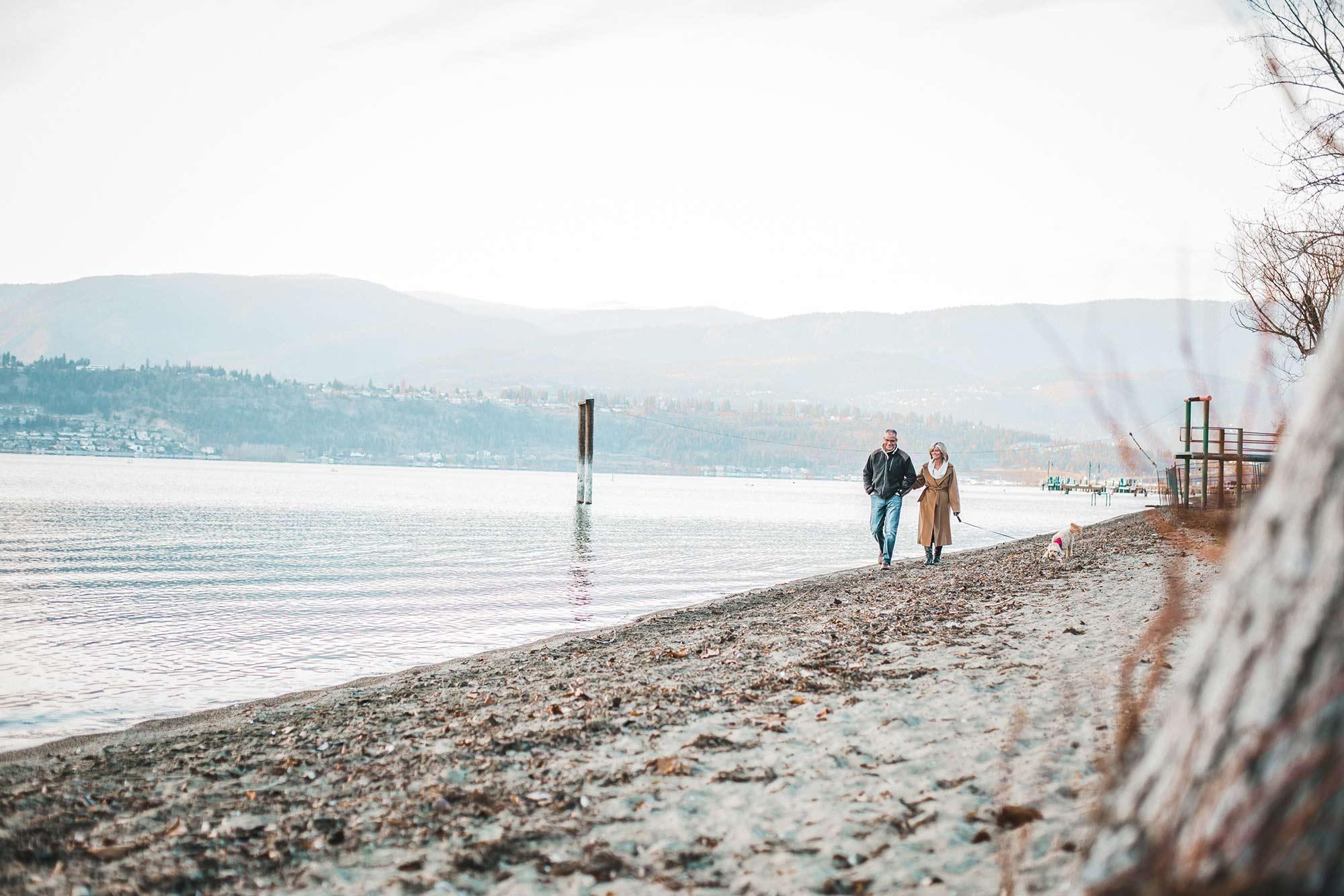 Couple at Gyro Beach kelowna BC