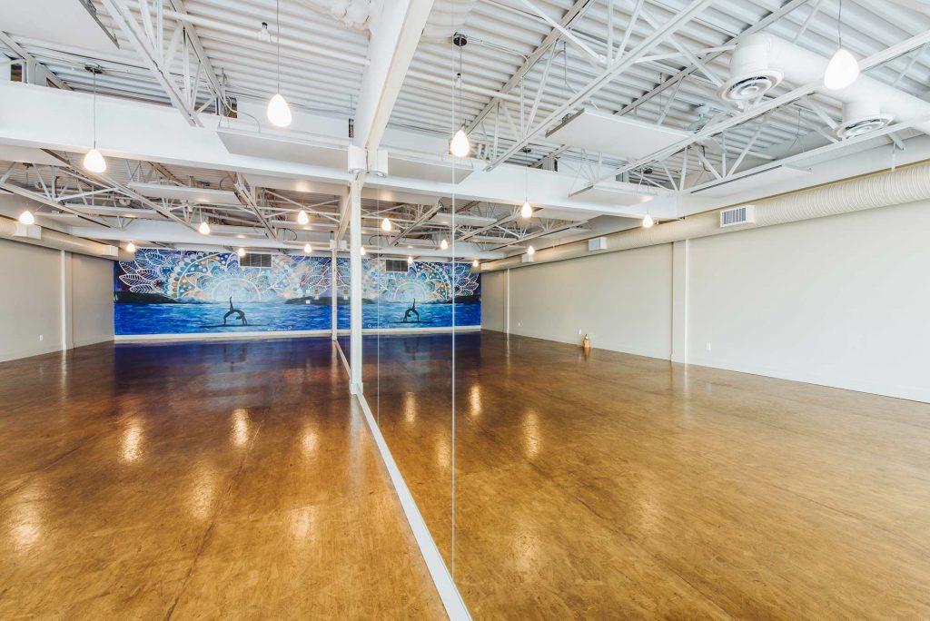 The Hot Box Yoga West Kelowna yoga room