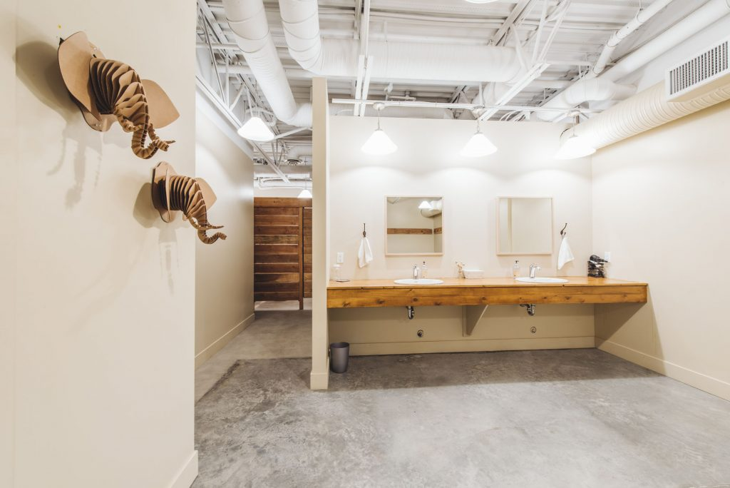 The Hot Box Yoga West Kelowna bathroom