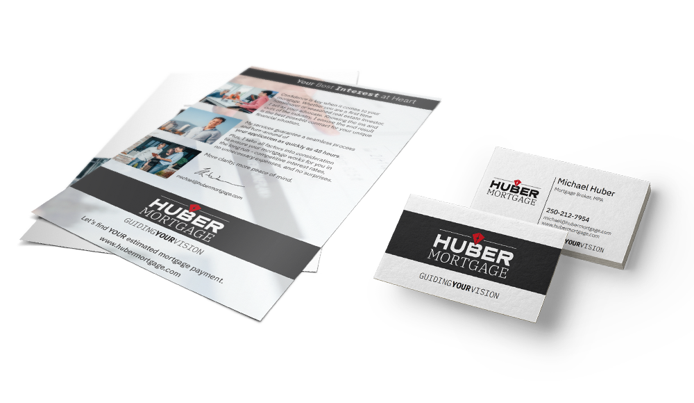 Huber Mortgage Business Card + Flyer Design